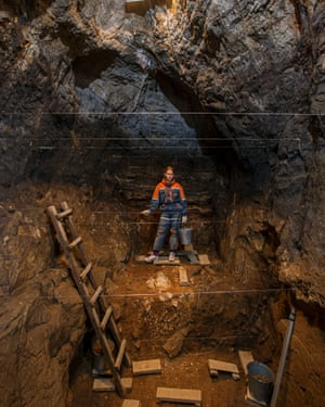 Excavation at Denisova Cave.