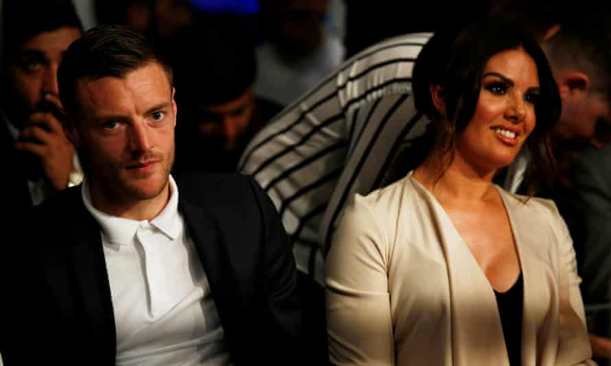 Leicester City's Jamie Vardy and wife, Rebekah. His phone and computer can be searched for relevant material, a judge has ruled.