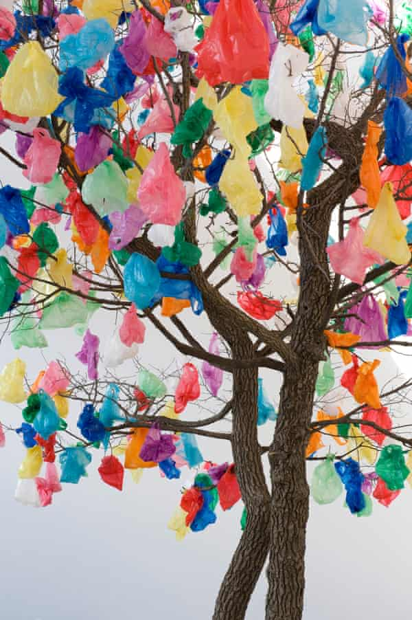 A blossom of bags … Pascale Marthine Tayou's Plastic Tree B.