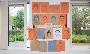 Self-portraits by some of the young people attending a NHS mental health unit in east London.