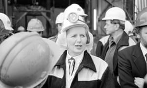 Margaret Thatcher in the Selby coalfield, 1980.