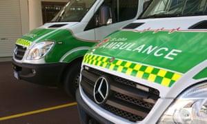 An ambulance in Perth