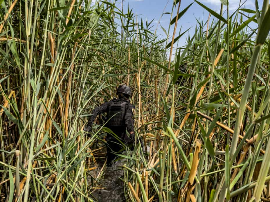 Isis fighters use the irrigation ditches to move around the countryside.