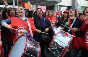 Women take part in a protest in the Turkish capital, Ankara