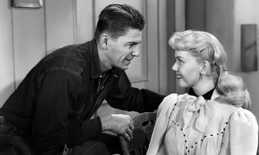 Doris Day with Ronald Reagan in the baseball movie The Winning Team, 1952.