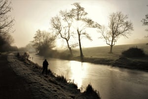 By Rita Long. Bathampton, Somerset. We woke early to find that the mist and frost had covered everything outside and it looked magical; there was bright sunlight that gave everything a mercury-like glow.