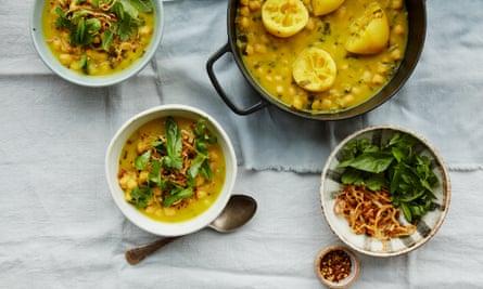 Anna Jones' quick chickpea, coconut and turmeric stew.