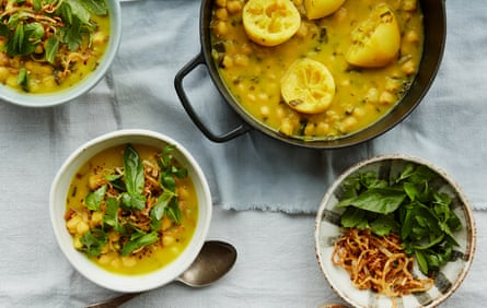 Stock up on legumes and spices, to make warming bowls like Anna Jones' quick chickpea, coconut and turmeric stew.
