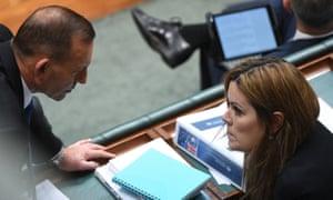 Tony Abbott speaks with Peta Credlin.