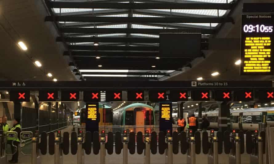 London Bridge station, a Southern rail terminus, on Tuesday morning.