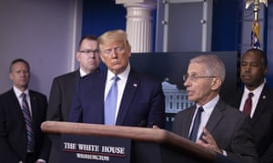 Anthony Fauci, the director of the National Institute of Allergy and Infectious Diseases, speaks during a briefing at the White House on 21 March 2020.