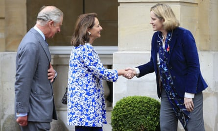The Prince of Wales with the French environment minister Ségolène Royal and climate change secretary Amber Rudd.