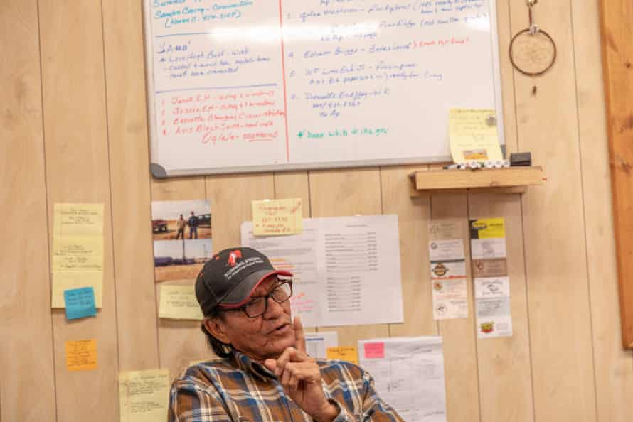 Ken Lone Elk, water coordinator for the nonprofit Running Strong for American Indian Youth