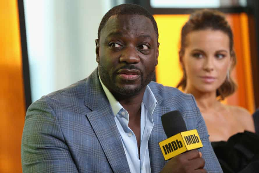 Adewale Akinnuoye-Agbaje with Kate Beckinsale at this year's Toronto film festival
