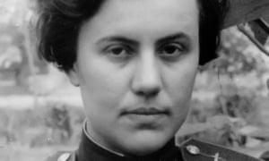 Major Irina Rakobolskaya in the early 1940s. Her experience in the second world war defined her long life