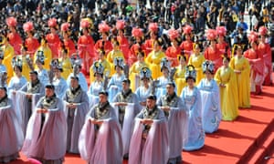 Qingming Festival, Huangling County, Shaanxi Province, China - 05 Apr 2015<br>Mandatory Credit: Photo by Xinhua/REX/Shutterstock (4612127c) A ceremony is held to honor Huangdi, or the Yellow Emperor, who is considered as the ancestor of the Chinese nation Qingming Festival, Huangling County, Shaanxi Province, China - 05 Apr 2015