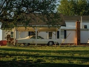 A Cadillac Eldorado sits behind John Boyd Jr's home in Baskerville. The car has been a symbol of John's perseverance over the years as it's one thing he's been able to hold onto even in tough financial times.