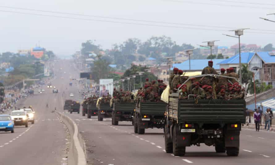 Congolese troops in Kinshasa on Tuesday.
