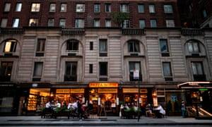 A restaurant in Manhattan as New York City last night