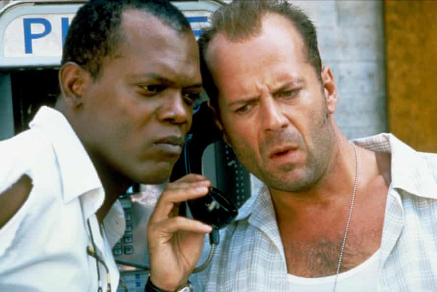 Samuel L Jackson and Bruce Willis in Die Hard: With a Vengeance.