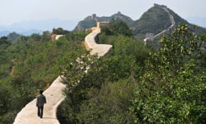 A restored section of the Great Wall of China