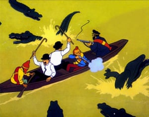 A still from Tintin and the Temple of the Sun (1969).