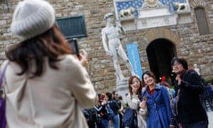 More tourists in Florence appear to spend longer looking at aprons featuring David's private parts than they do at Michelangelo's statue.
