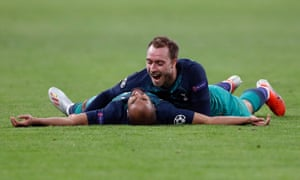 Lucas Moura and Christian Eriksen look forward to the Champions League final.