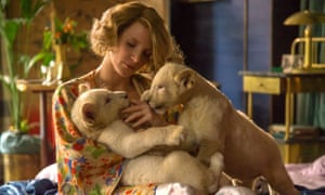 'All the elements are lined up for a major prestige success, until the movie itself starts to roll' ... Jessica Chastain in The Zookeeper's Wife.