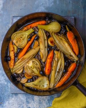 Simple but great: braised vegetables.