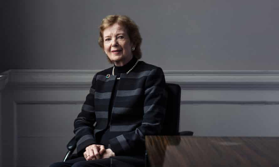 Mary Robinson in her offices in Dublin.