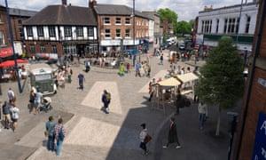 A visualisation of Ashton-under-Lyne town centre