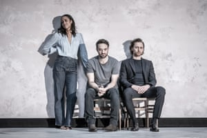 Zawe Ashton (Emma), Charlie Cox (Jerry) and Tom Hiddleston (Robert) in Betrayal directed by Jamie Lloyd.