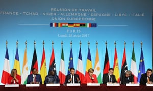 African and European leaders at a meeting in Paris last August aimed at stemming the flow of migrants into Europe from northern Africa in return for aid
