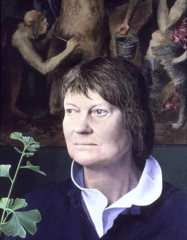 Dame Iris Murdoch, portrait by Tom Phillips, 1984-86 oil on canvas / 80 x 55 cm, in the National Portrait Gallery
