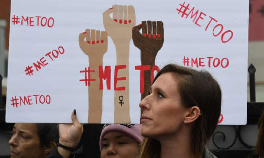 An #MeToo march in Hollywood, California in November 2017.