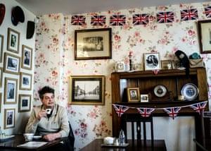 David Shayler in a Redcar cafe