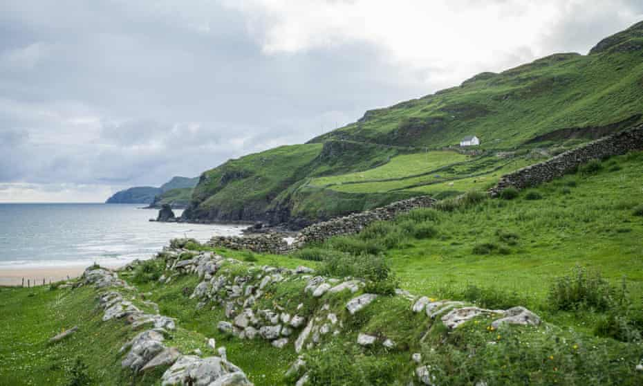 The coast of Kilcar in County Donegal, Ireland