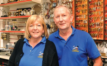 Rasen Hardware shop owners Ken and Sue Greenwood in Market Rasen Lincs