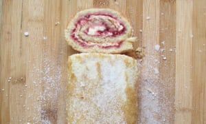 Jane Hornby's swiss roll: generous ratio of eggs to sugar.