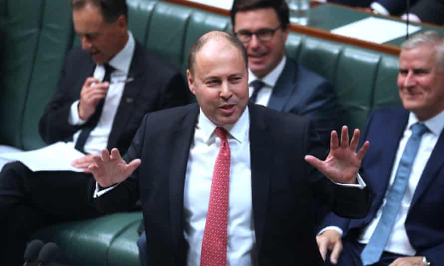 Australia's treasurer Josh Frydenberg during question time