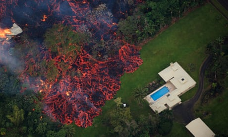 Hawaii volcano fills sky with acid plumes and glass shards