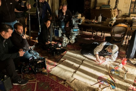 Banderas on the set of Genius: Picasso.
