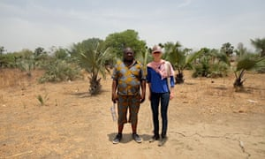 This is me flanked by Ponyo Salumu, our nutrition manager. This area has seen brutal fighting since the war started in December 2013 and presently, due to its relative safety, receives people fleeing the active fighting and famine conditions in Leer and Meyandit counties. International Medical Corps runs mobile medical units and provides nutrition services in Nyal.