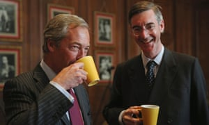 Nigel Farage with Jacob Rees-Mogg