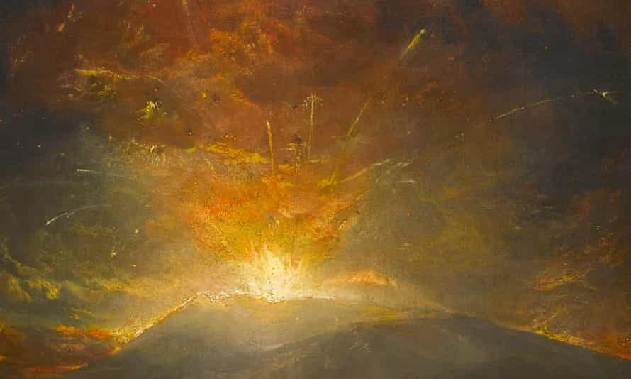 The Eruption of the Soufrière Mountains in the Island of St Vincent, 30 April 1812 (detail), by Joseph Mallord William Turner, 1815.