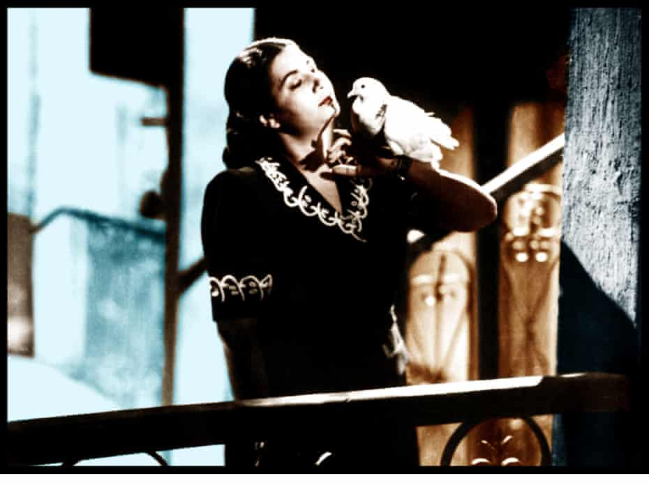 Starring in the 1947 film Fatma.