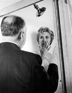 Psycho (1960) Hitchcock directs Janet Leigh in the infamous shower scene. The 78 shots that were edited into 45 seconds of screen time took seven days to complete