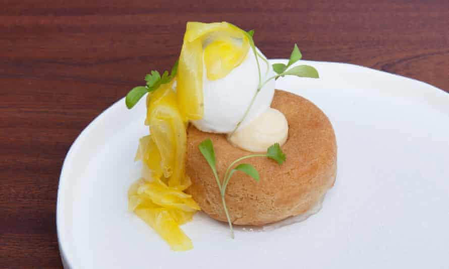 Rum savarin with coconut and pineapple at Fiend: 'Perilously boozy.'