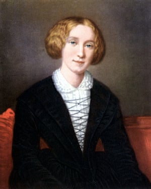 Portrait of George Eliot, whose real name was Mary Ann Evans